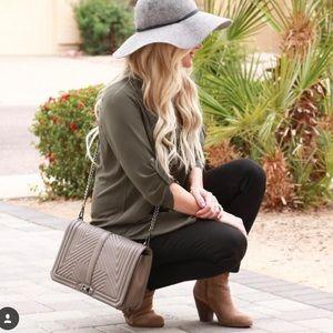 Rebecca Minkoff crossbody quilted handbag taupe